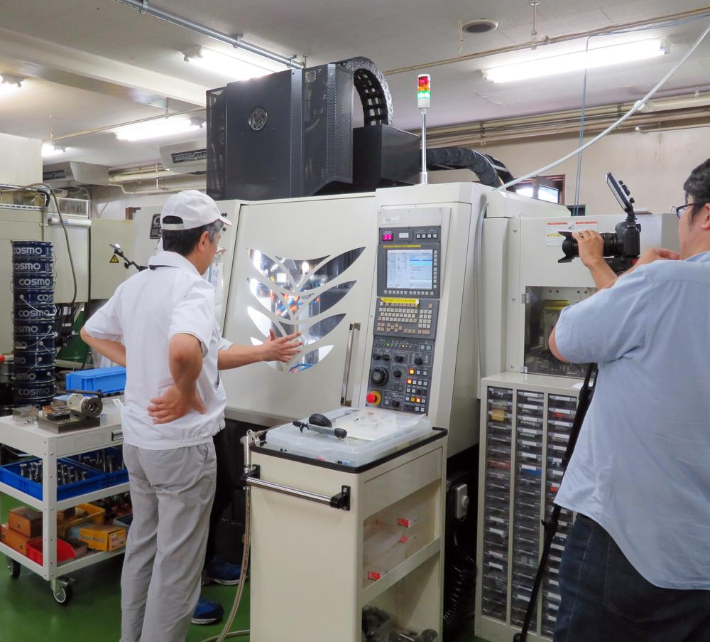 金属加工 名古屋テレビ取材 高砂電気