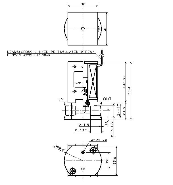 比例制御弁 WPNシリーズ 寸法図